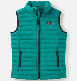 Joules Crofton Packaway Vest Turtle Green