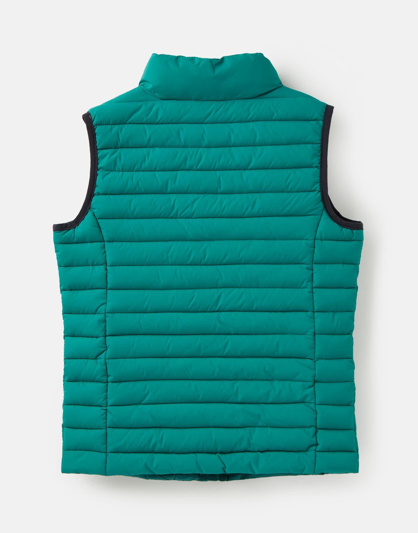 Joules Crofton Packaway Vest Turtle Green