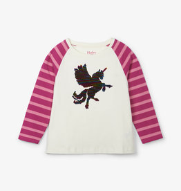 Hatley Mythical Unicorn Flip Sequin Raglan Tee