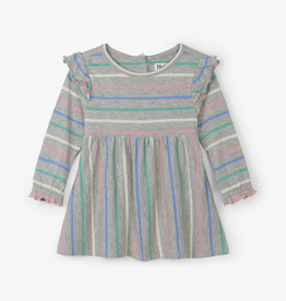 Hatley Sweet Stripe Ruffle Cap Baby Dress