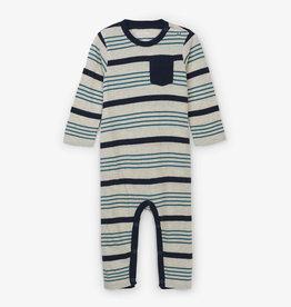 Hatley Grey Stripe Baby Romper