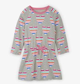 Hatley Multicolor Hearts Drop Waist Dress