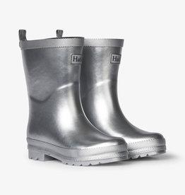 Hatley Silver Shimmer Shiny Rain Boot