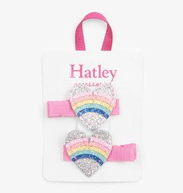Hatley Rainbow Hearts Glitter Hair Clips