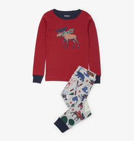 Hatley Winter Traditions Applique PJ Set