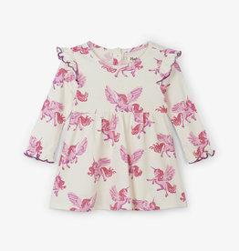 Hatley Enchanted Unicorns Ruffle Cap Baby Dress