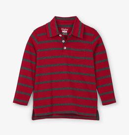 Hatley Red Stripe LS Polo Tee