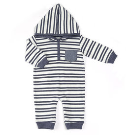 Kapital K Stripe Thermal Coverall Blue Storm