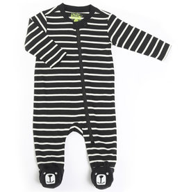 Kapital K Bear Footed Coverall Black & White Stripe