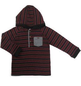 Kapital K Stripe Hoodie Merlot Stripe