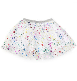Kapital K Starry Tulle Skirt White