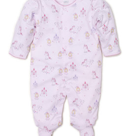 Kissy Kissy Pink Print Footie Unicorn Magic