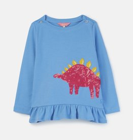 Joules Esme Shirt Lake Blue Dino