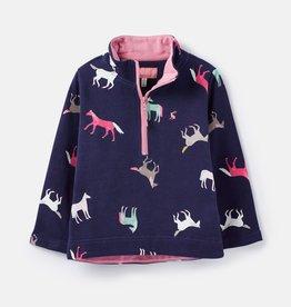 Joules Fairdale Half Zip Sweatshirt Navy Horses