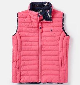 Joules Croft Reversible Vest Pink Multi Horse