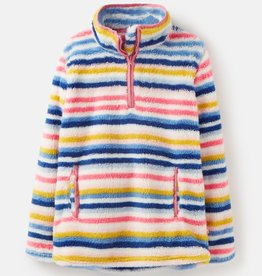 Joules Ellie Half Zip Fleece Multi Stripe