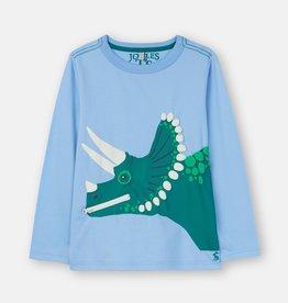Joules Zipadee Shirt Blue Dino