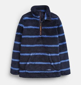 Joules Woozle Half Zip Fleece Navy Stripe