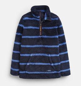 Joules Woozle Half Zip Fleece Navy Stripe