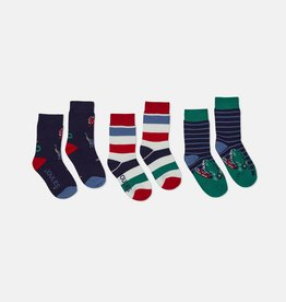 Joules Brilliant Bamboo Socks Multi Dinos