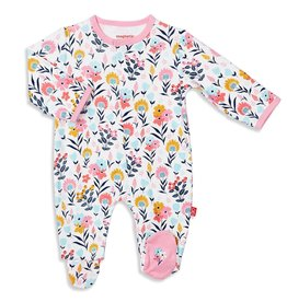 Magnificent Baby Sussex Floral Organic Cotton Footie