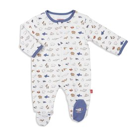Magnificent Baby Glacier Bay Organic Cotton Footie