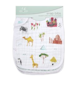 Aden & Anais Around the World 3-Pack Classic Snap Bibs