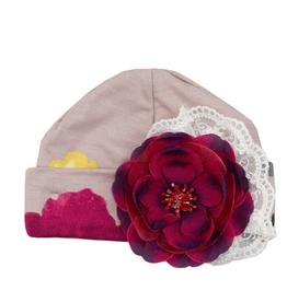 Haute Baby Cranberry Rose Cap, 0/3M
