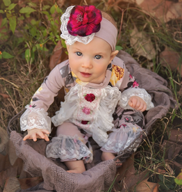 Haute Baby Cranberry Rose Coverall