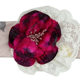 Haute Baby Cranberry Rose Headband
