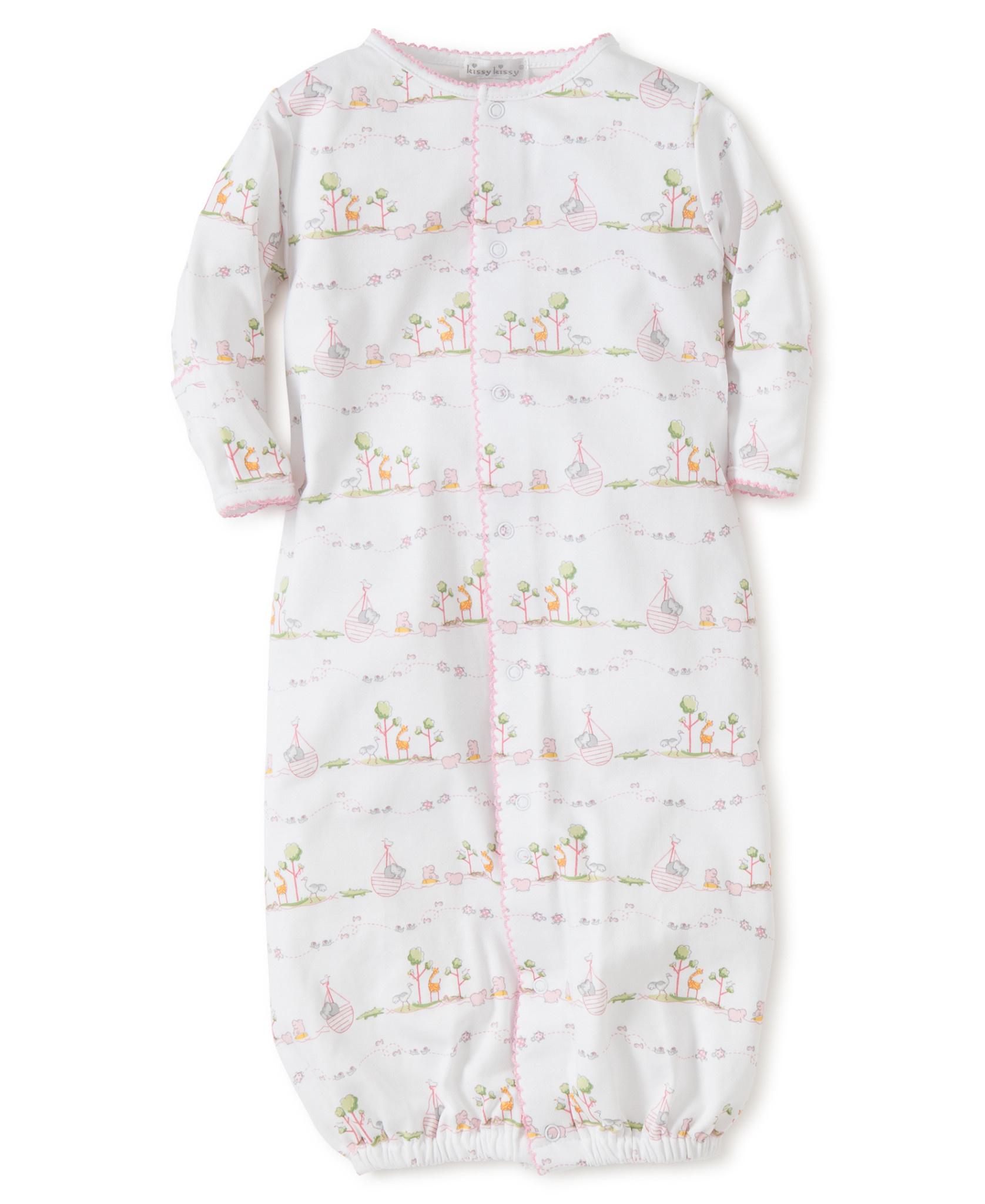 Kissy Kissy Noah's Print Converter Gown Pink
