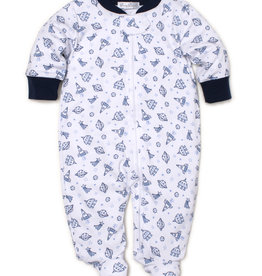 Kissy Kissy Zipper Print Footie Rocket Science