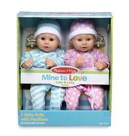 Melissa & Doug Mine to Love Luke & Lucy Twin Dolls