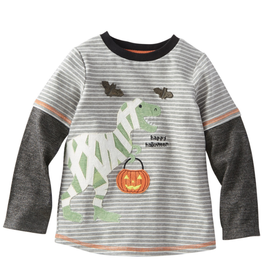 Mud Pie Dino Mummy Halloween T-Shirt