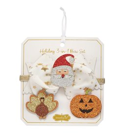 Mud Pie Holiday 3-in-1 Bow Set