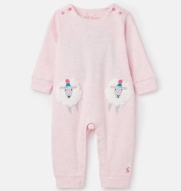 Joules Gracie Babygrow Pink Sheep