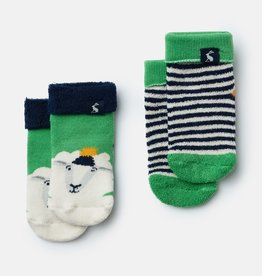 Joules Terry Socks Green Sheep