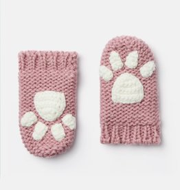 Joules Paws Mittens Cherry Blossom