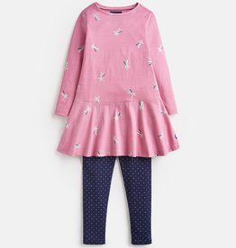 Joules Iona Shirt & Pants Set Pink Shooting Star
