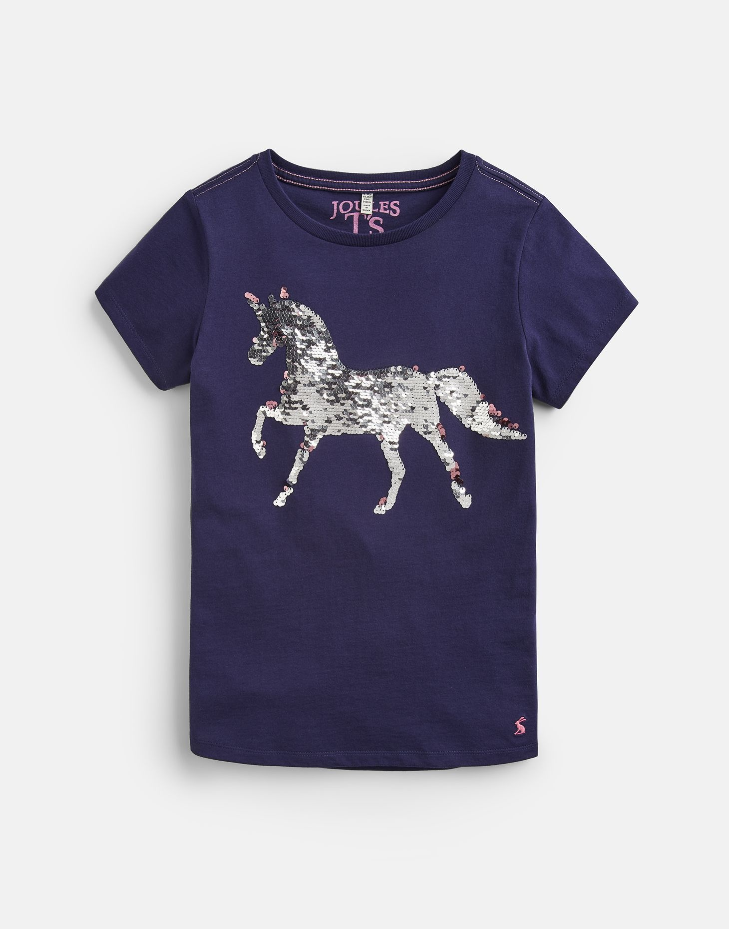 Joules Astra Shirt Navy Sequin Horse