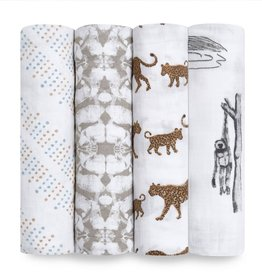 Aden & Anais Hear Me Roar 4-Pack Classic Swaddles
