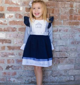 Evie's Closet Nativity Embroidered Dress