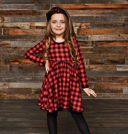 Serendipity Farmhouse Buffalo Plaid Dress Set