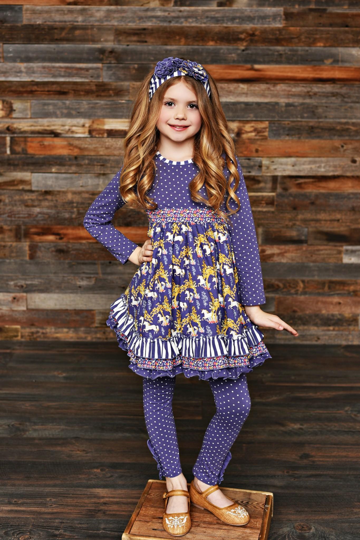 Serendipity Unicorn Ruffle Dress w/ Legging