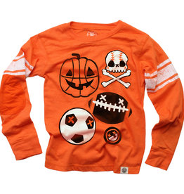 Wes And Willy LS Halloween Sports Jersey Orange Crush