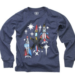 Wes And Willy Rockets Tee Midnight