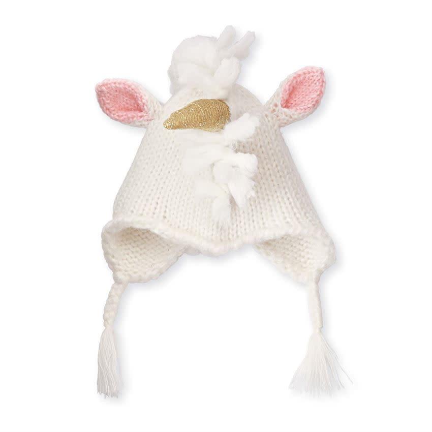 Mud Pie Ivory Unicorn Hat TODDLER