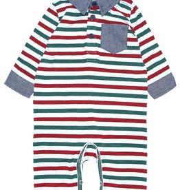 Fore!! Axel & Hudson Milk Stripe Jersey Romper