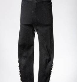 M. L. Kids Black Pearl & Lace Detail Legging