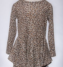 M. L. Kids Leopard Hanky Hem Dress